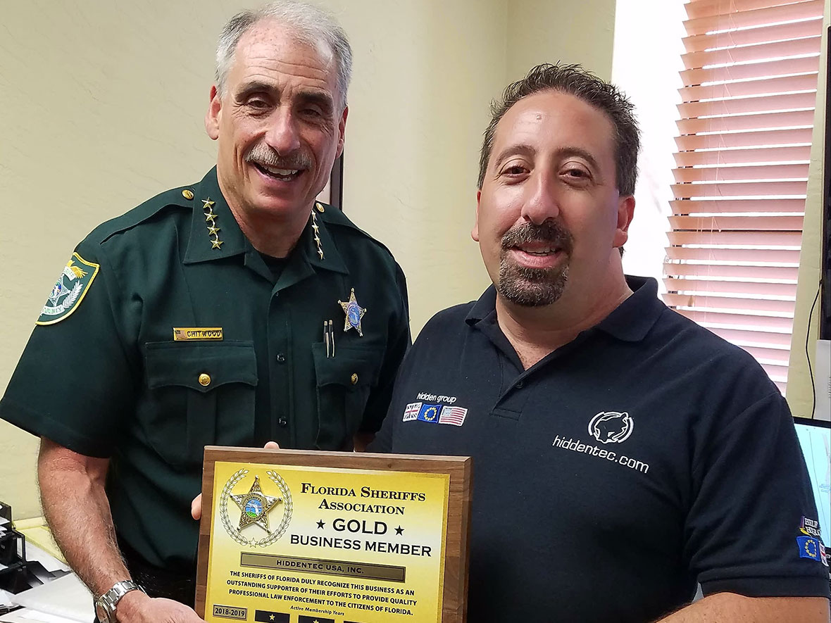 Michael Caporaso and Sheriff Chitwood